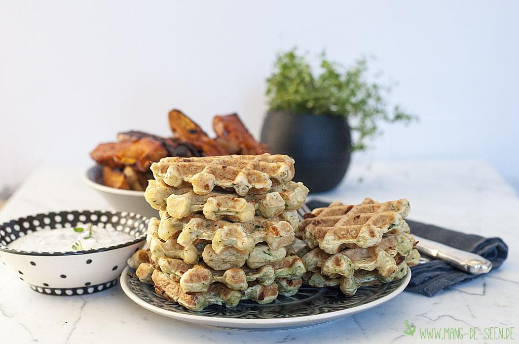 Fingerfood Rezepte vegetarische Zucchiniwaffeln