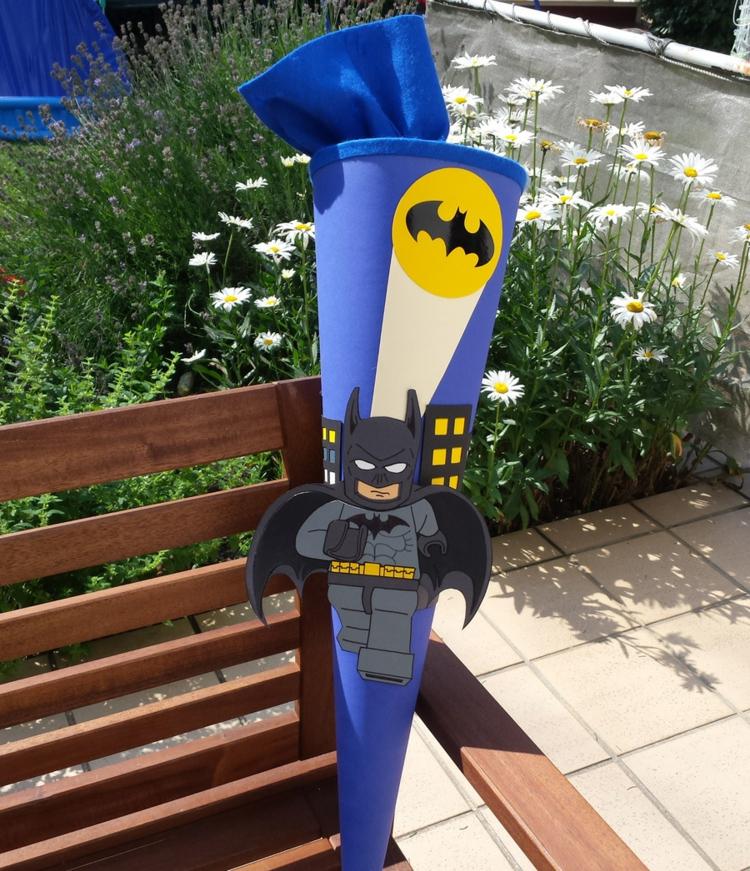Schultüte basteln Batman