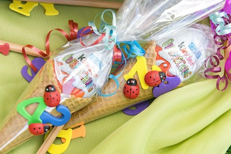 Zuckertüte Waffel kleine Süßigkeiten