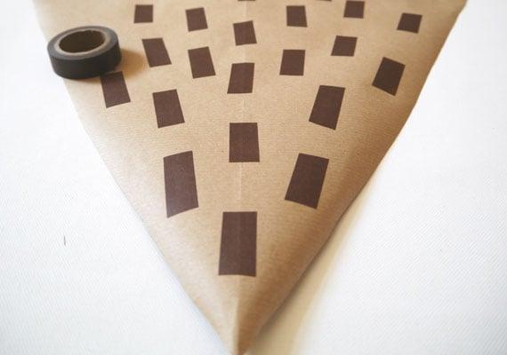 Zuckertüte dekorieren mit Washi Tape