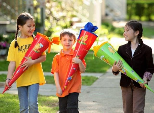 Zuckertüten für den ersten Schultag
