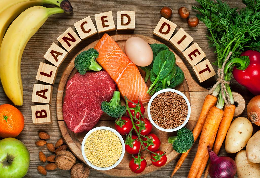 Abnehmen am Bauch ausgewogene Ernährung