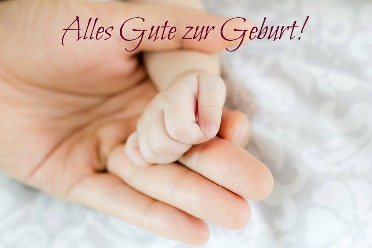 alles Gute zur Geburt wünschen