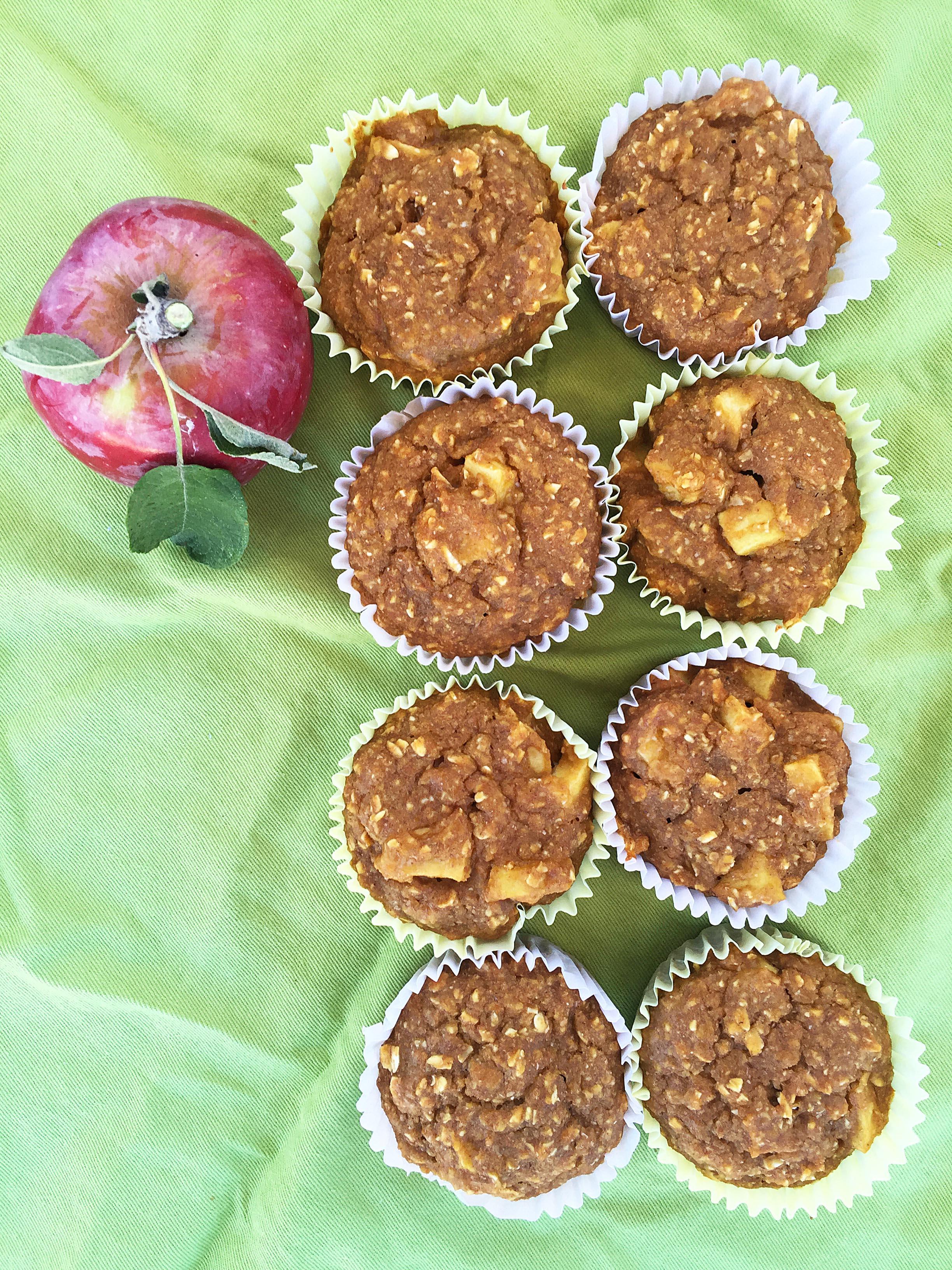 vegane Muffins backen Apfel Banane
