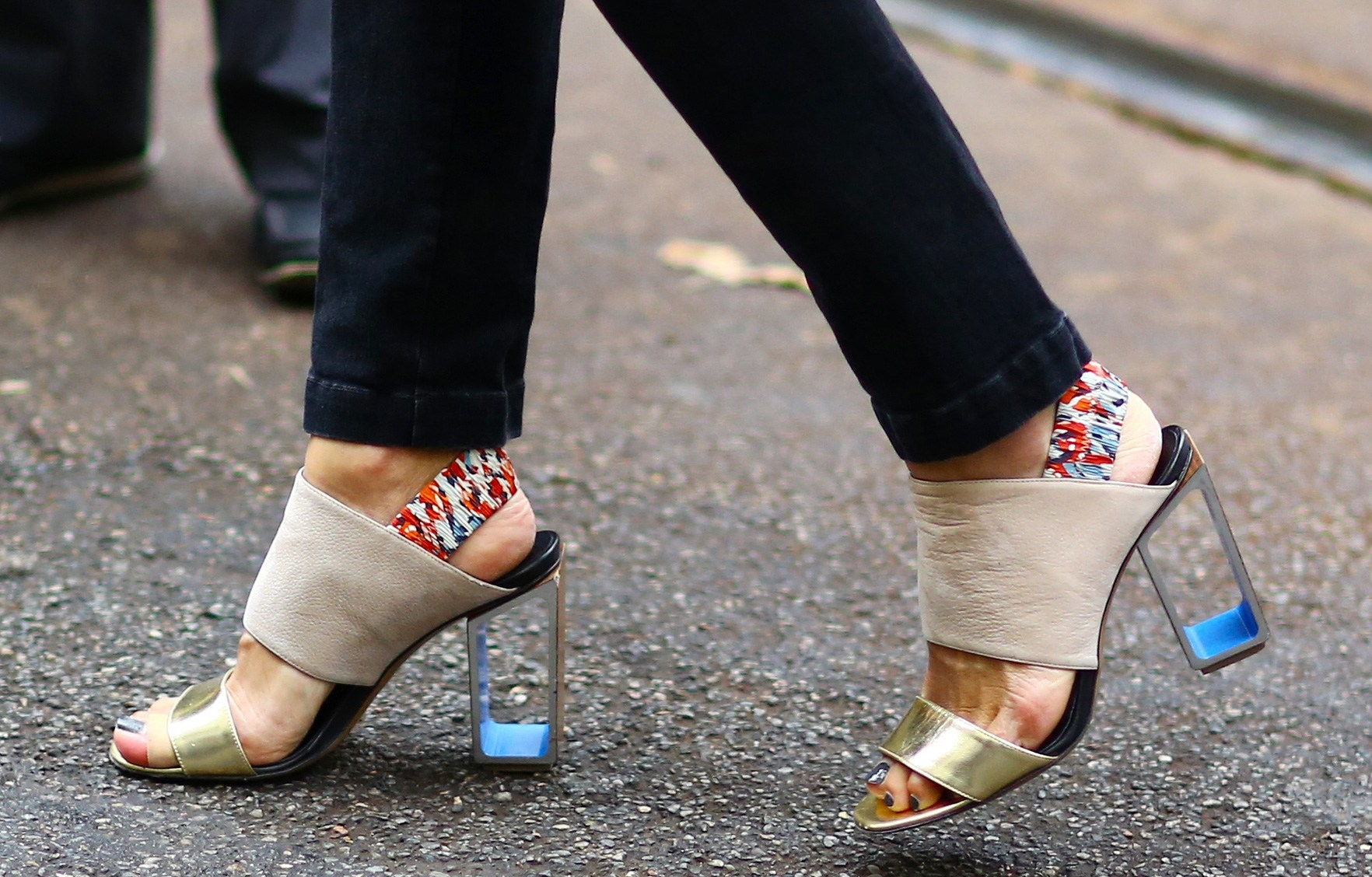 Schuhe Sommer auffällig elegant Mules