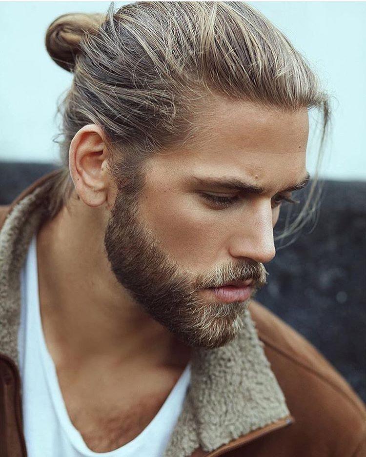 moderne Bartfrisuren Man Bun