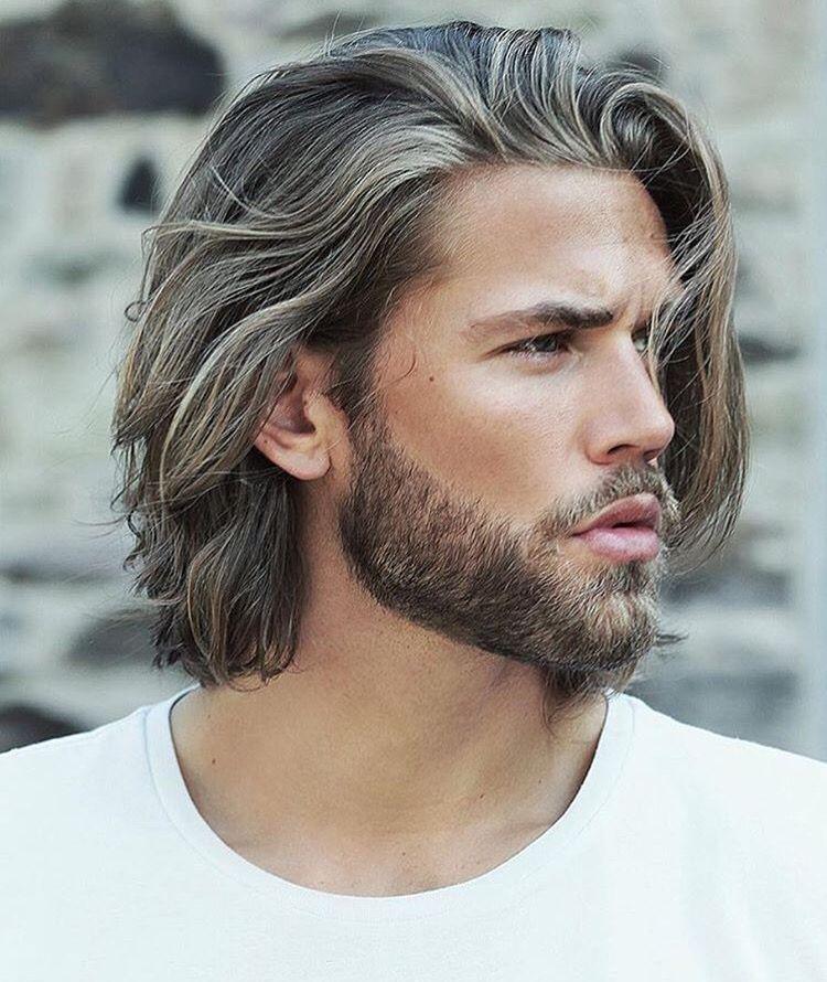 Bartpflege mittellange Haare sexy Look