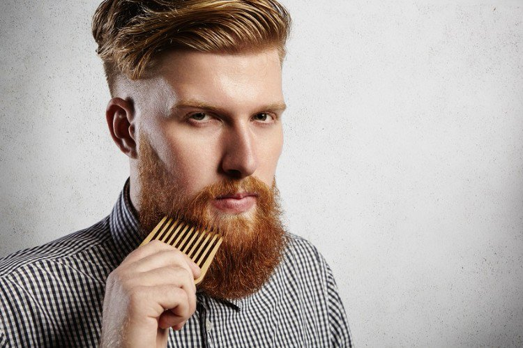 Bartpflege Kämmen gepflegter Look
