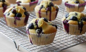vegane Muffins mit Blaubeeren