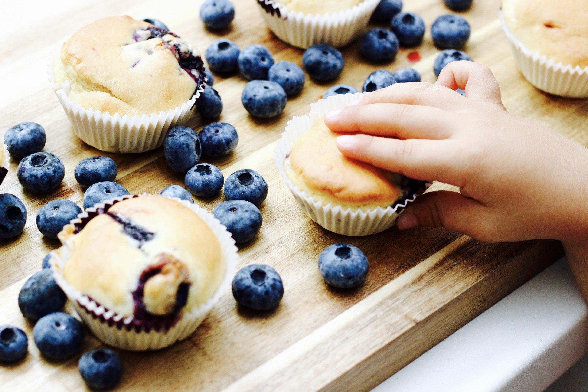 vegane Muffins mit Blaubeeren selber backen