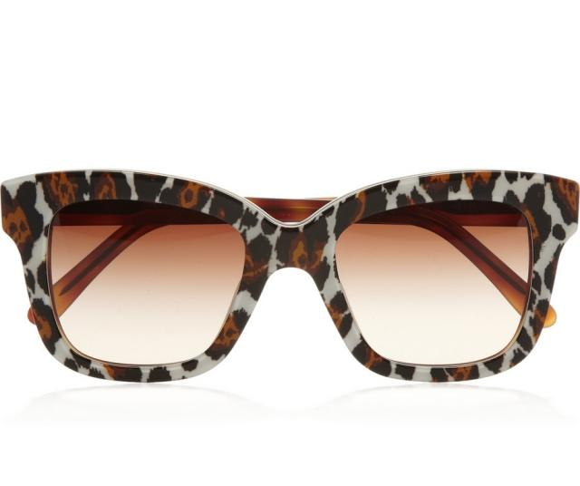 Sonnenbrille Damen Gestell extravagant Leopardenmuster