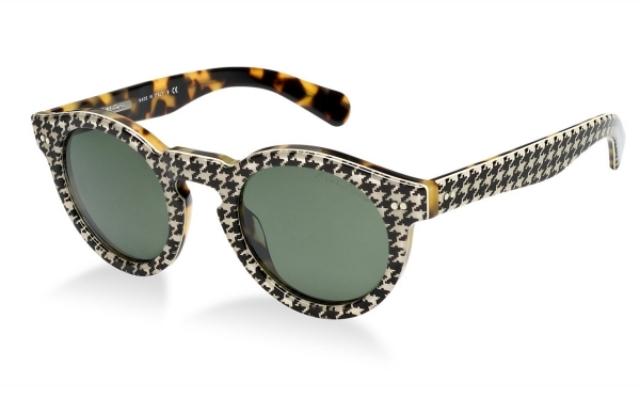 extravagante Damenbrillen Gestell Karo- und Leopardenmuster