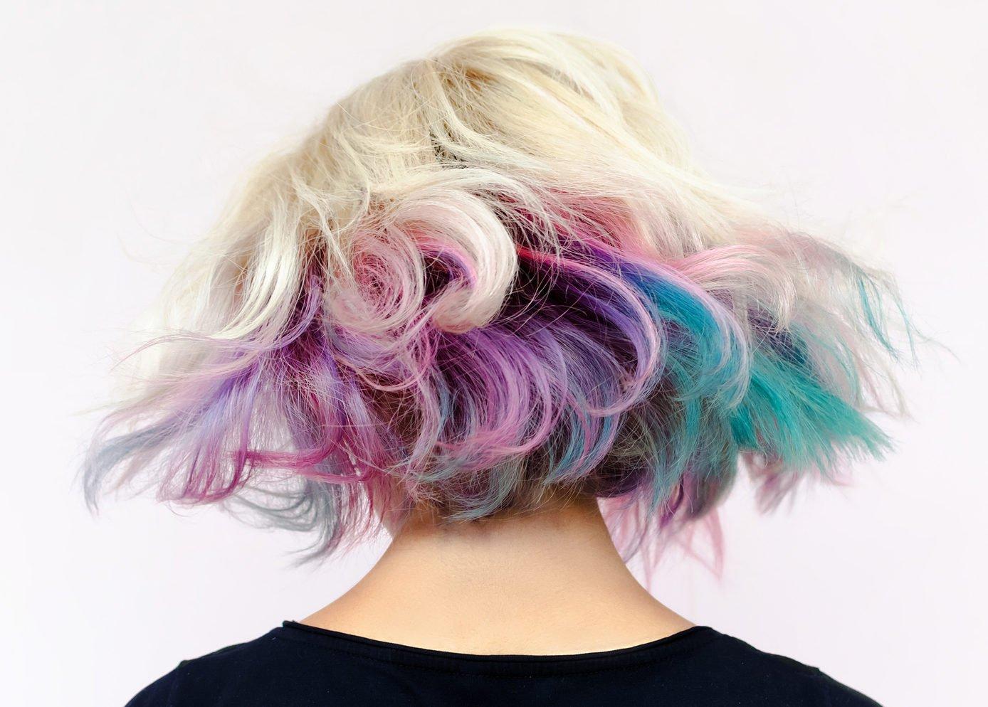 bunte Haare Regenbogenfarben