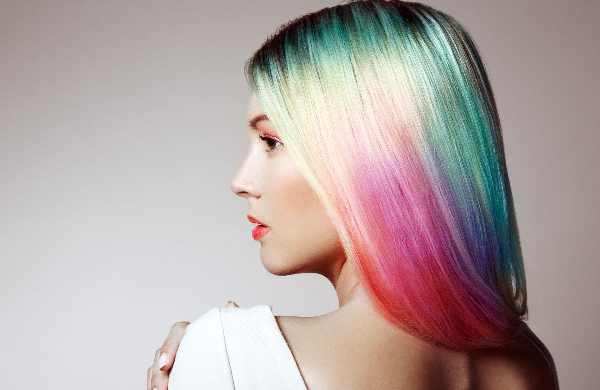 bunte Haare färben Ideen und Tipps