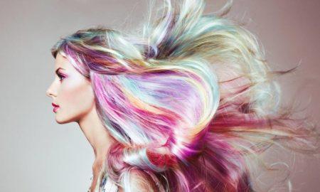 bunte Haare färben Frisurentrends Sommer 2019