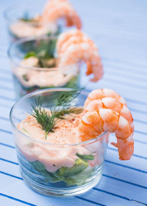 Shrimps Rezepte Cocktails Blattsalat Soße herrlicher Look