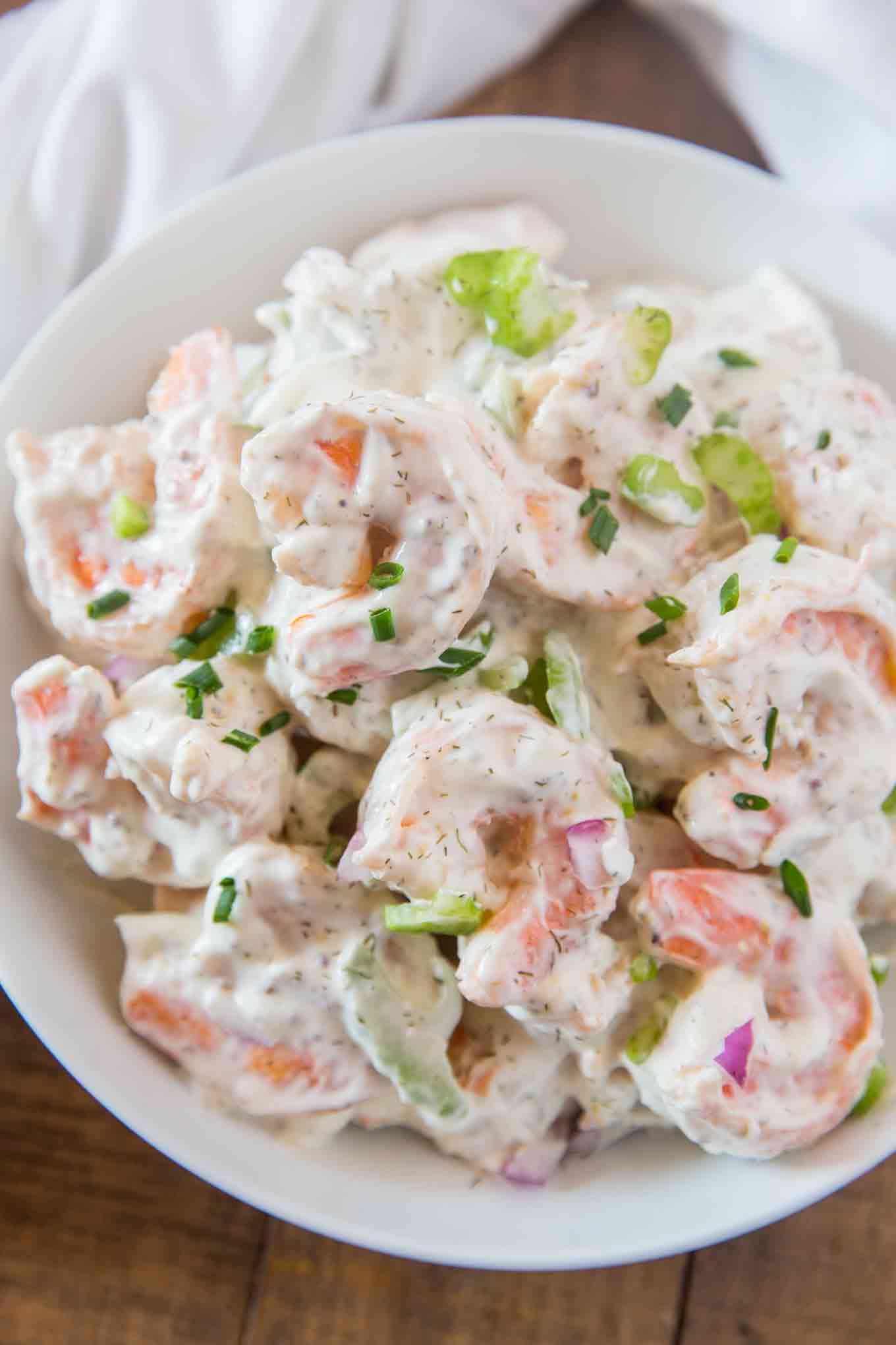 Shrimps Rezepte cremiger Salat Vorspeise Abendessen