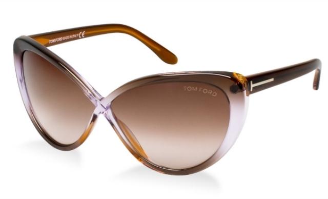 Sonnenbrille braun Damen Gestell leicht rechteckig