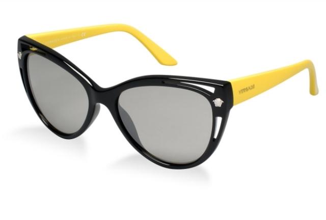 Damenbrillen Gestell in zwei Farben schwarz und gelb