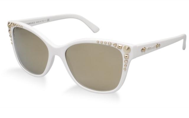 Damenbrillen weißes Gestell Strasssteine