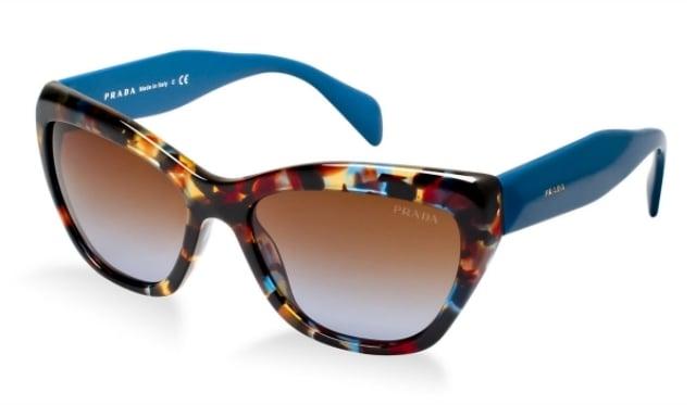 Sonnenbrille Damen buntes Gestell Plastik
