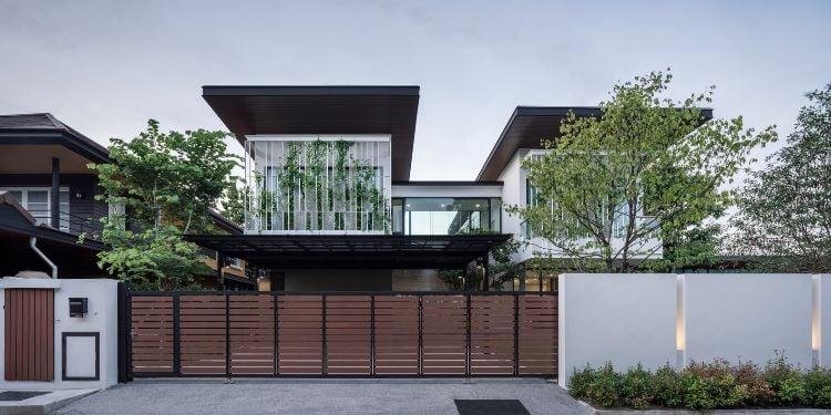 modernes Haus Fassade begrünen hilfreiche Tipps