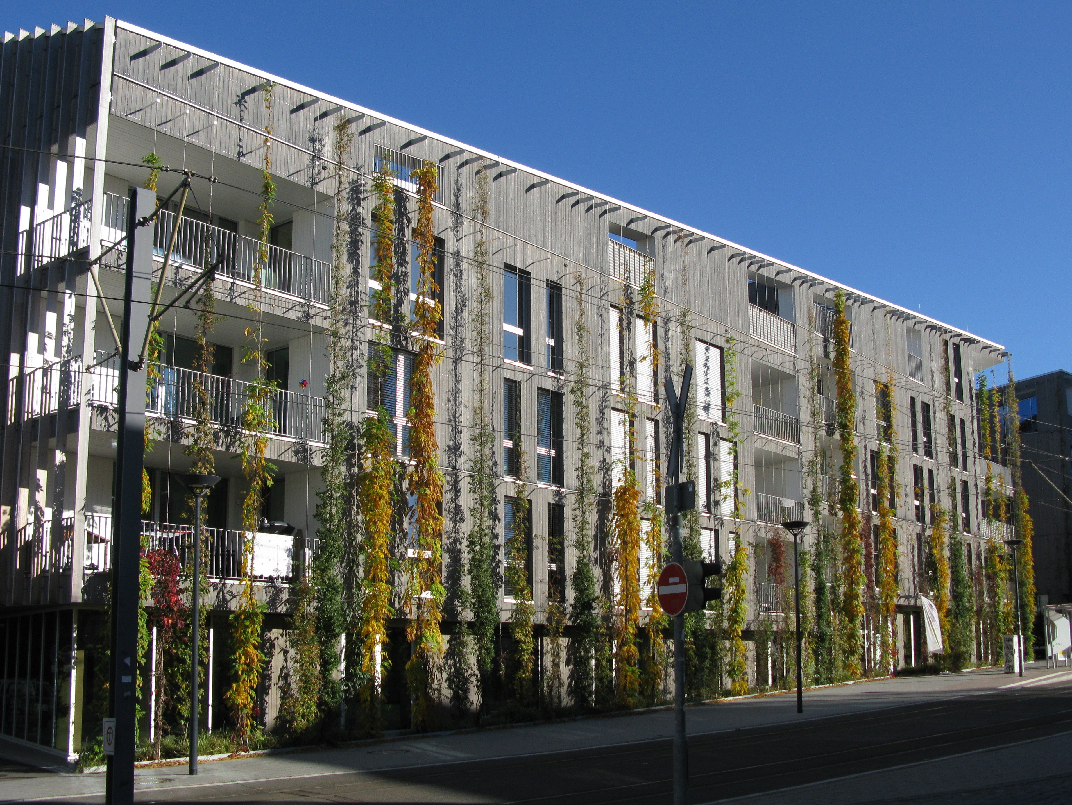 Fassade modern Begrünung herrliche Idee