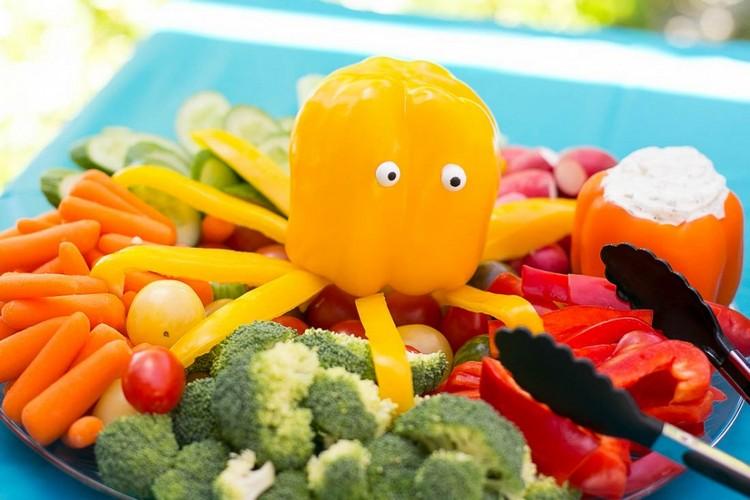 rohes Gemüse Platte originell anrichten