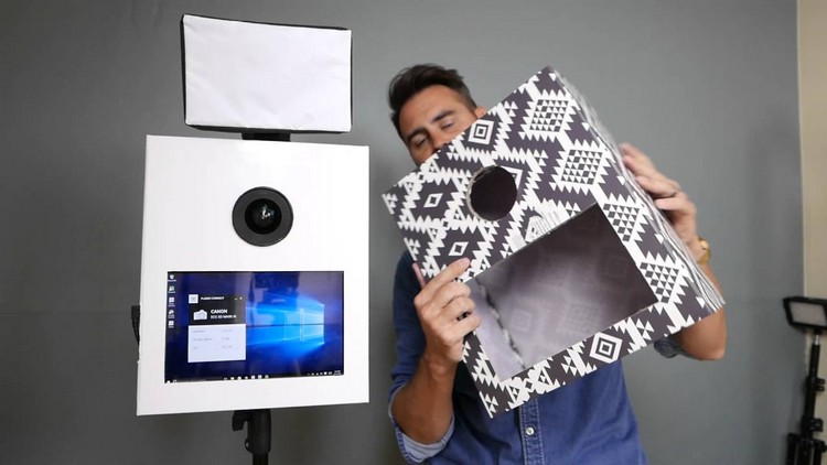 Photobooth dekorieren Karton