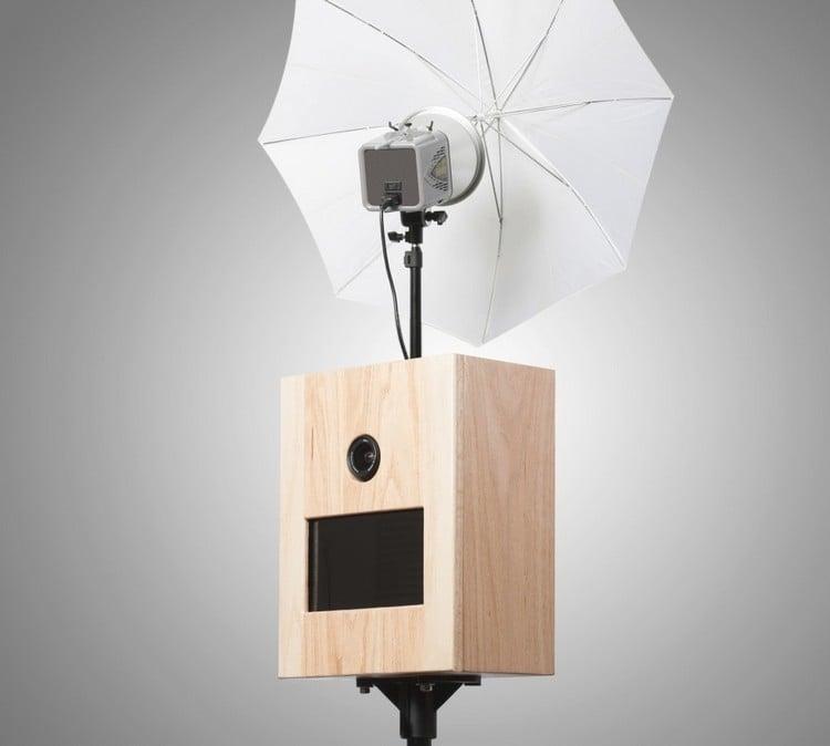 Photobooth aus Holz mit Reflexschirm DIY