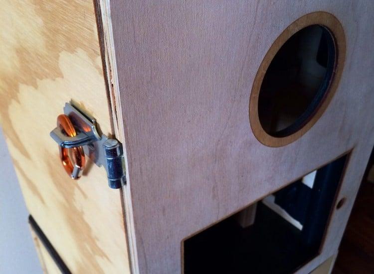 Photobooth Tür mit Verschluss DIY