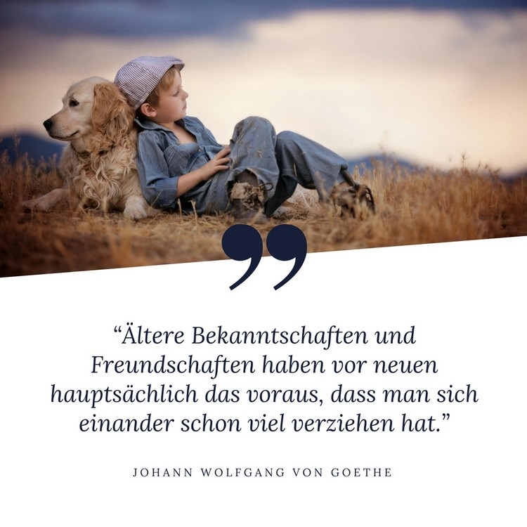 Zitat Freundschaft tiefsinnig Goethe