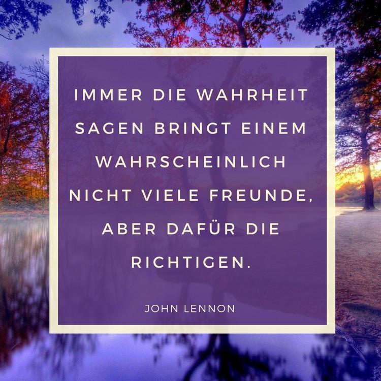 BFF Sprüche Zitat John Lennon