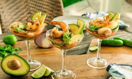 tolle Vorspeise Garnelen Cocktails