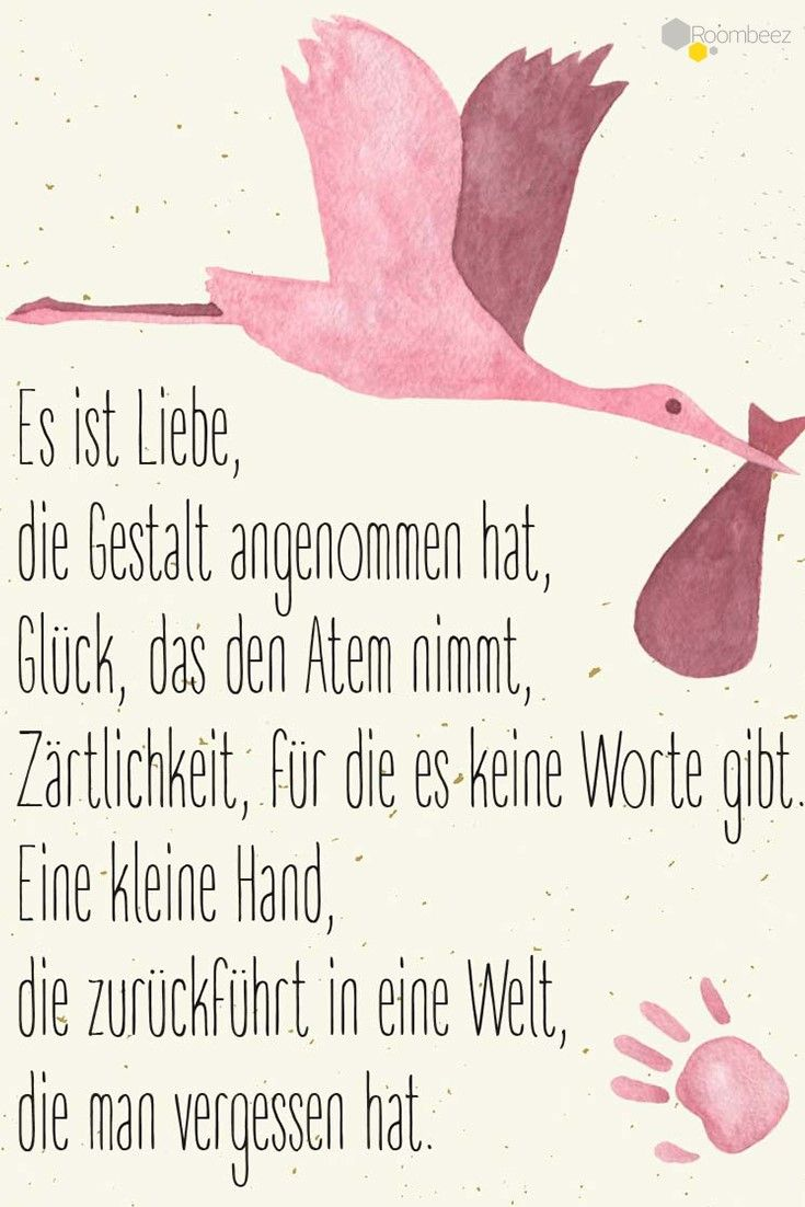 Sprüche zur Geburt Mädchen Gedicht Grußkarte beschriften