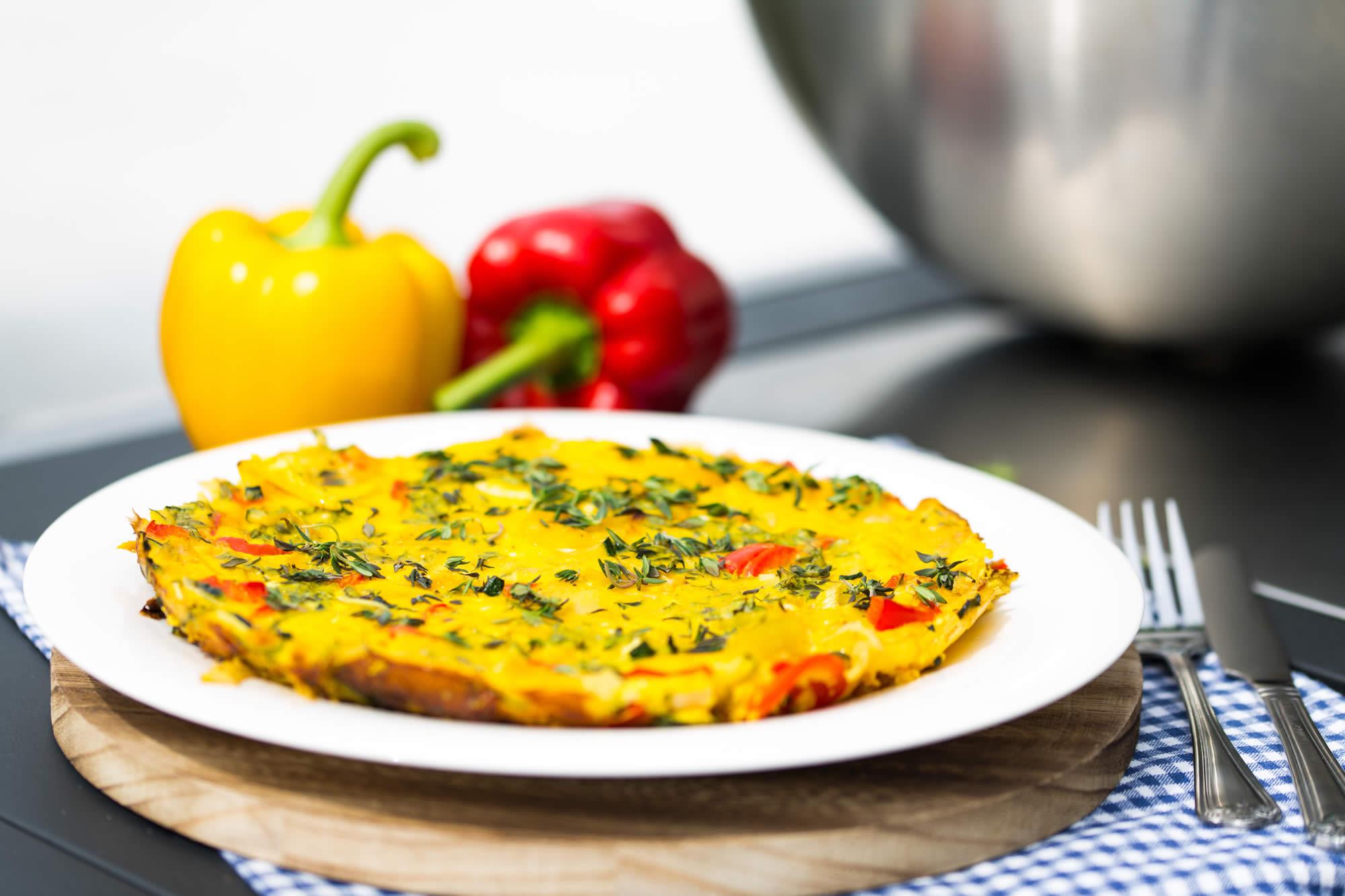 Gemüse-Tortilla lecker vegetarisch