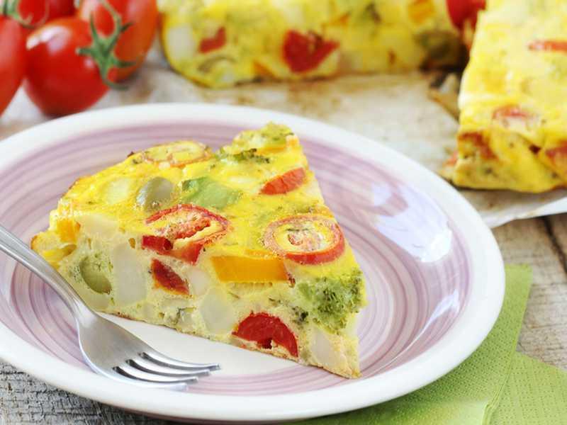 Gemüse-Tortilla spanische Küche