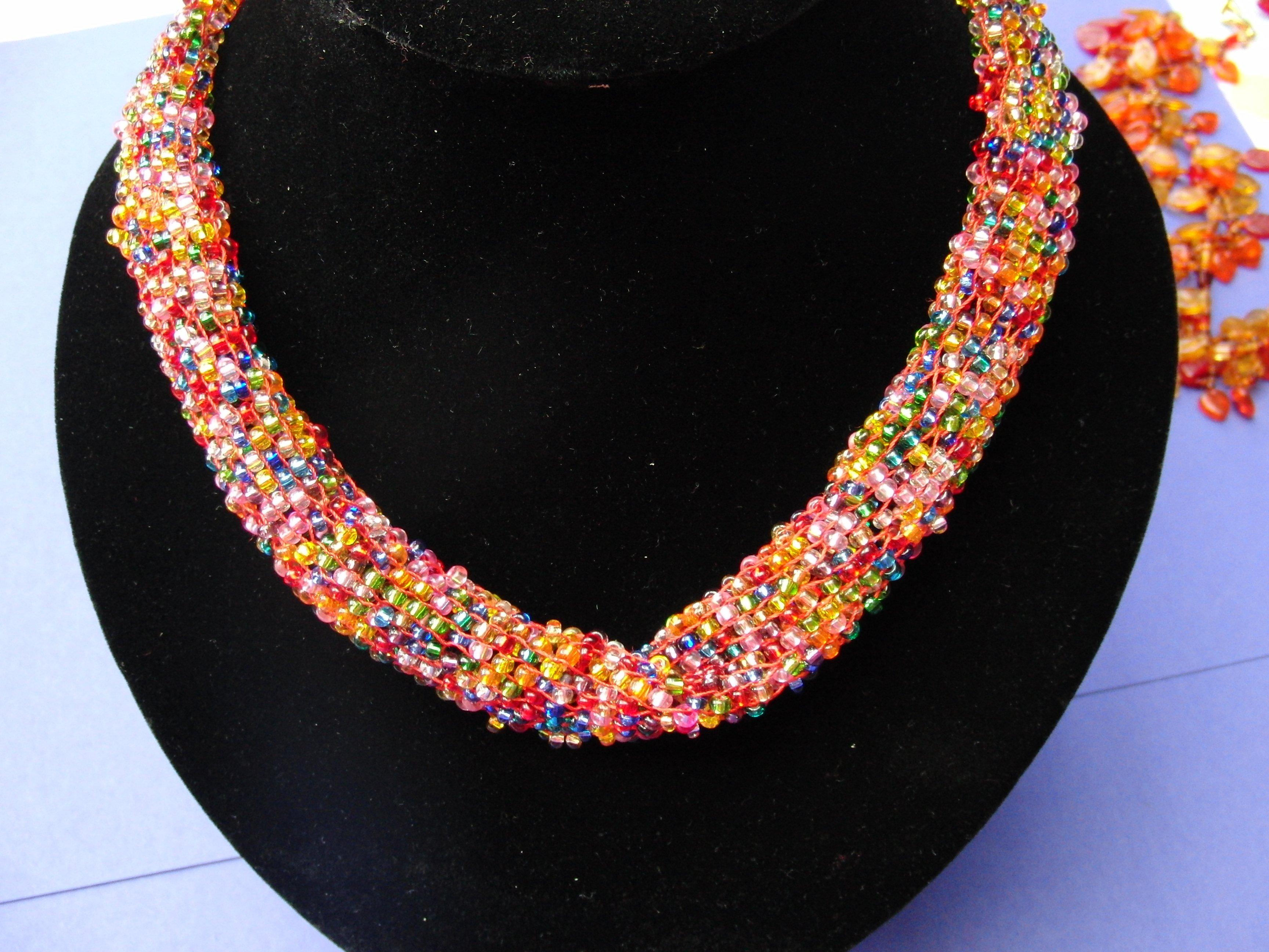 DIY Halskette gestrickt originell stilvoll