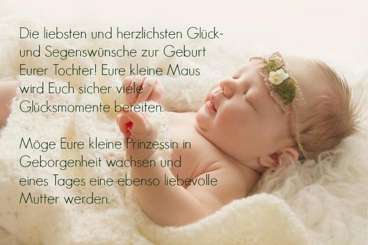 Sprüche zur Geburt Mädchen + Bastelanleitung für tolle ...