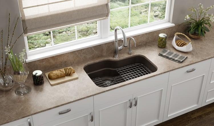 Küchenspüle Unterbau praktisch Metallgitter