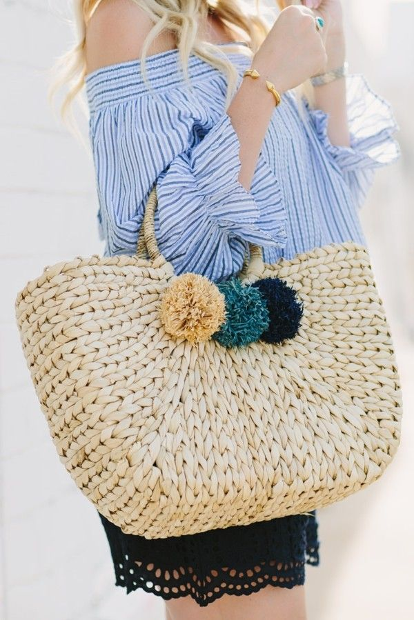 Modetrends Sommer Accessoires Strohtasche