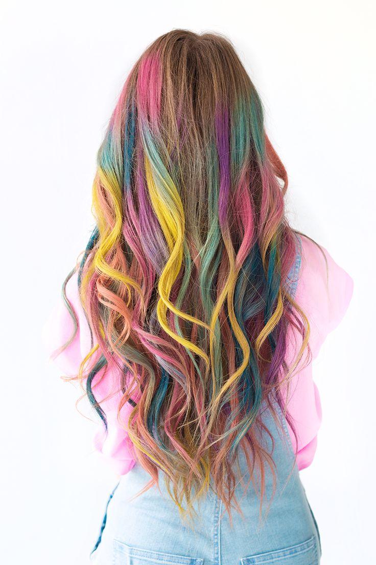 tolle Frisur Haarkreide auffällig