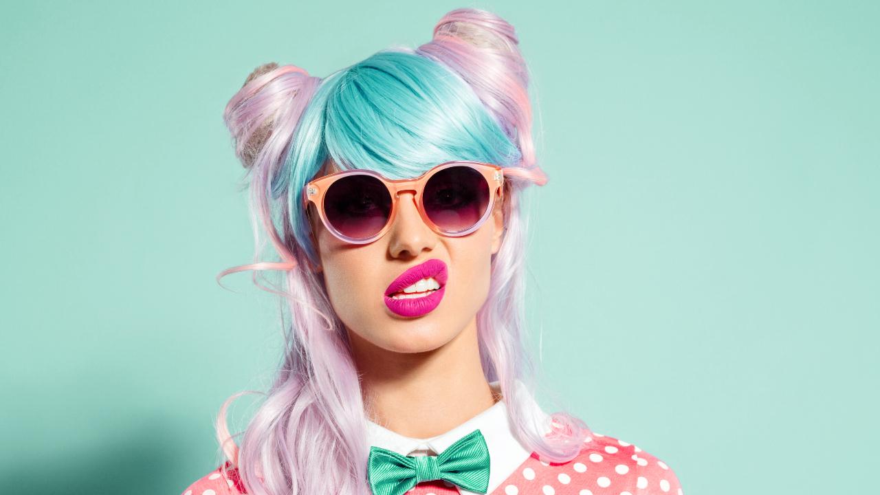 moderne Haarfarben pastellig tolle Ideen