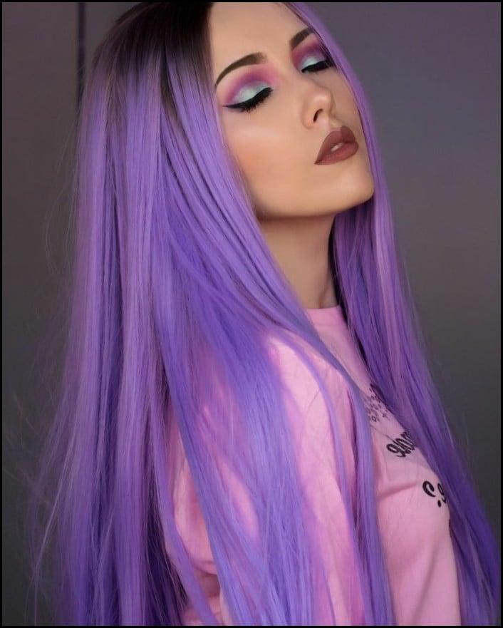 Haarfarbe Violett wirklich zart und stilvoll