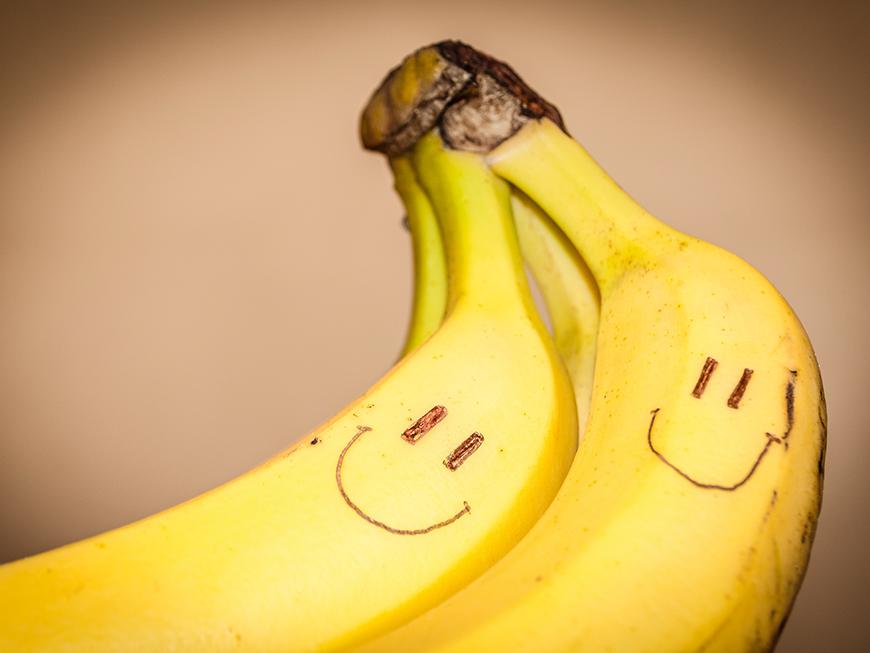 Bananenmaske selber zubereiten glänzende Haare