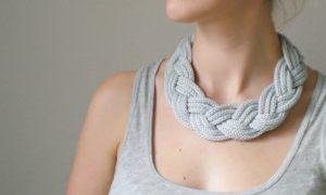 Basteln mit Strickliesel tolle Halskette