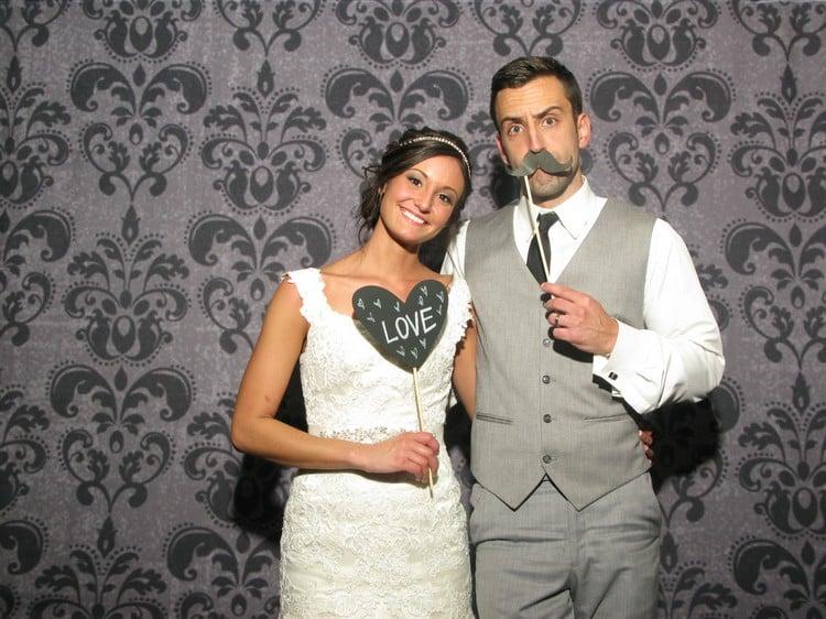 originelle Hochzeitsfotos Photobooth