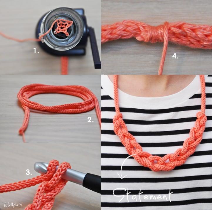 Halskette flechten wie geht es