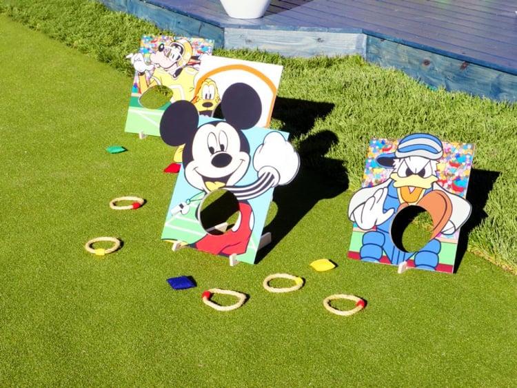Spielplatz im Garten gestalten verschiedene Outdoor Spiele