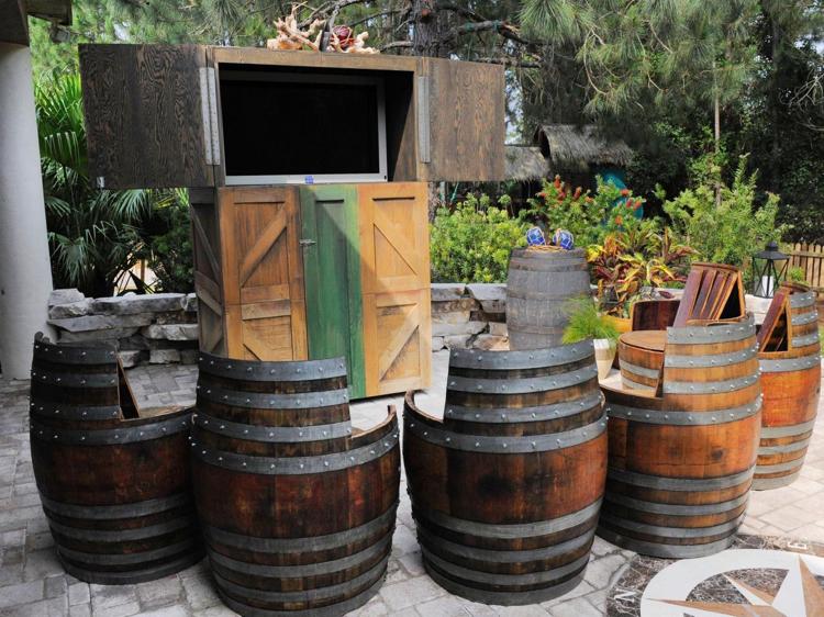 Spielplatz für Kinder Outdoor Sommerkino Piraten